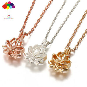 Newest-Aroma-Diffuser-lotus-Necklace-Lockets-Perfume-Essential-Oil-Aromatherapy