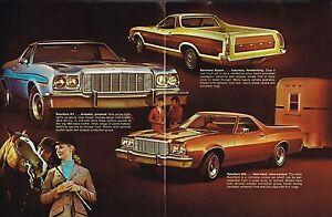 1975 Ford RANCHERO Dealer Catalog / Brochure : GT,SQUIRE,500,460, NEW/ORIGINAL!