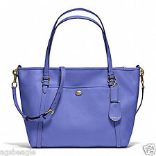 #CRZYHeart Coach Bag F25667 Peyton Leather Pocket Tote F25667 Blue Agsbeagle