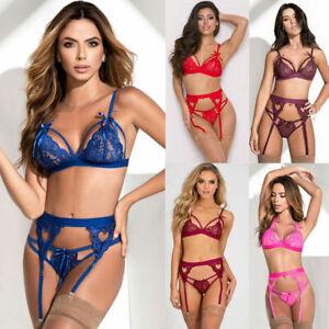 Women-039-s-Lace-Sexy-Lingerie-Nightwear-Underwear-G-string-Babydoll-Sleepwear-Dress