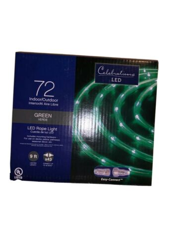 LED String Rope 9 FT Light Green Outdoor Waterproof Wedding Christmas 72 Light