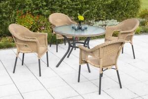 Merxx Gartenmöbel-Set 1 Ravenna 5-teilig Tisch: Ø 100 x 74 cm ...