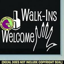 Nail Salon Walk Ins Welcome Vinyl Decal Sticker Shop Front Door Window Sign