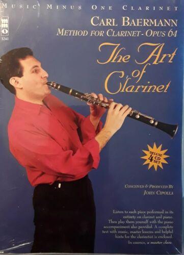 """SEALED PKG. BAERMANN /""""THE ART OF CLARINET/"""" 4 CD/'s,MUSIC MUSIC MINUS ONE"""