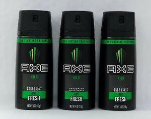 3PCS-Axe Kilo Deodorant Body Spray 4 oz
