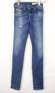 DIESEL Women Skinzee Super Slim Skinny Stretch Jeans Size W27 L32 BEZ645