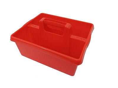Red Tack Vassoio / Tack Box Per L'uso Quando Grooming Cavalli, Made In Uk-mostra Il Titolo Originale
