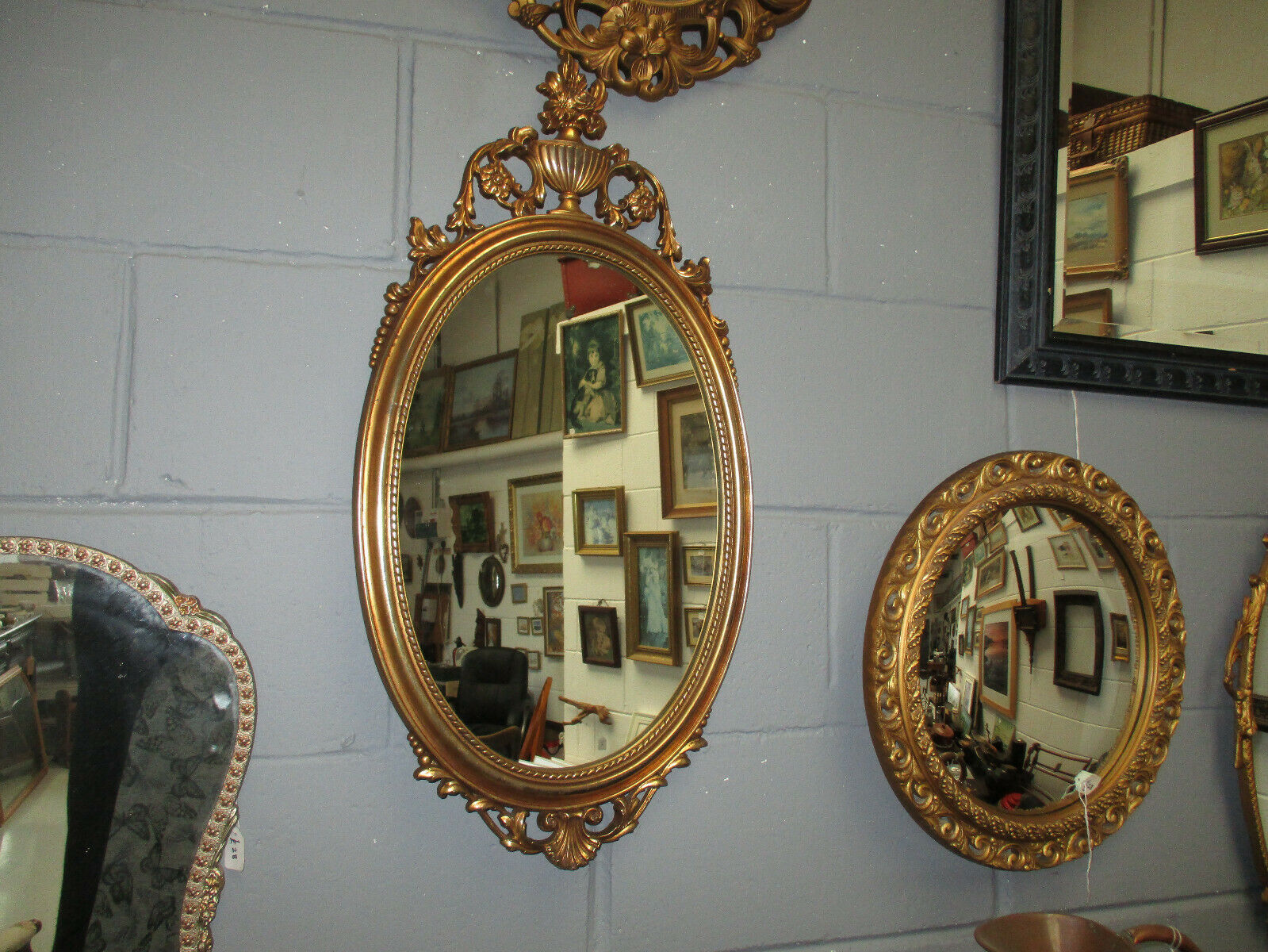 Decorative Guilt Mirror with Detailing
