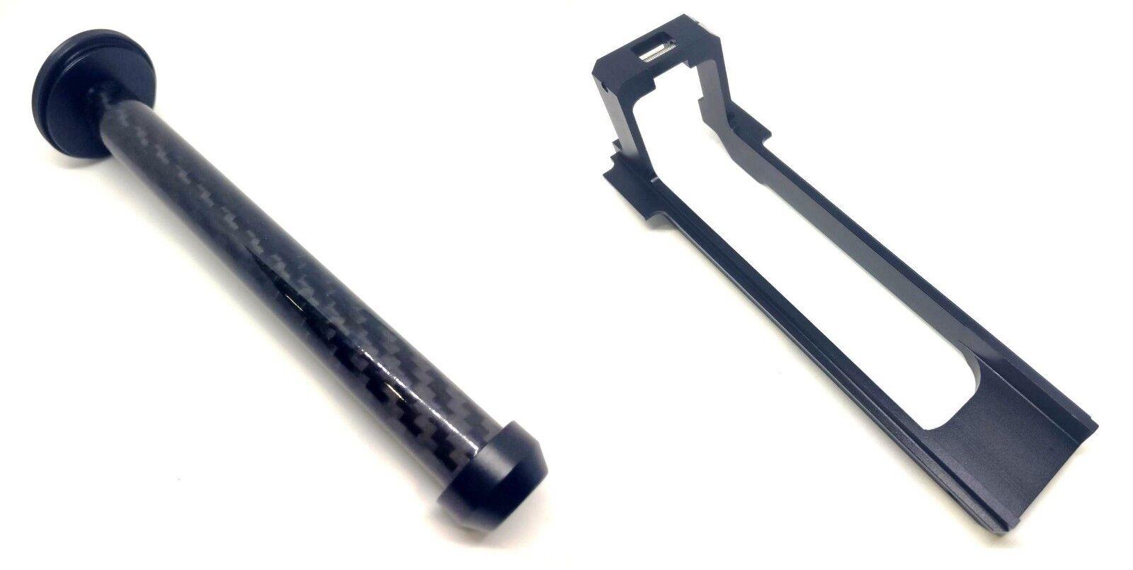 Metal de fibra de Carbono Varilla de Émbolo + Metal Trineo Nerf Longshot