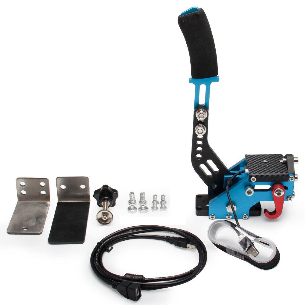 USB 14Bit PC Handbrake Racing Games Linear Handbrake fit G27 G29 J3E5 Blue TN