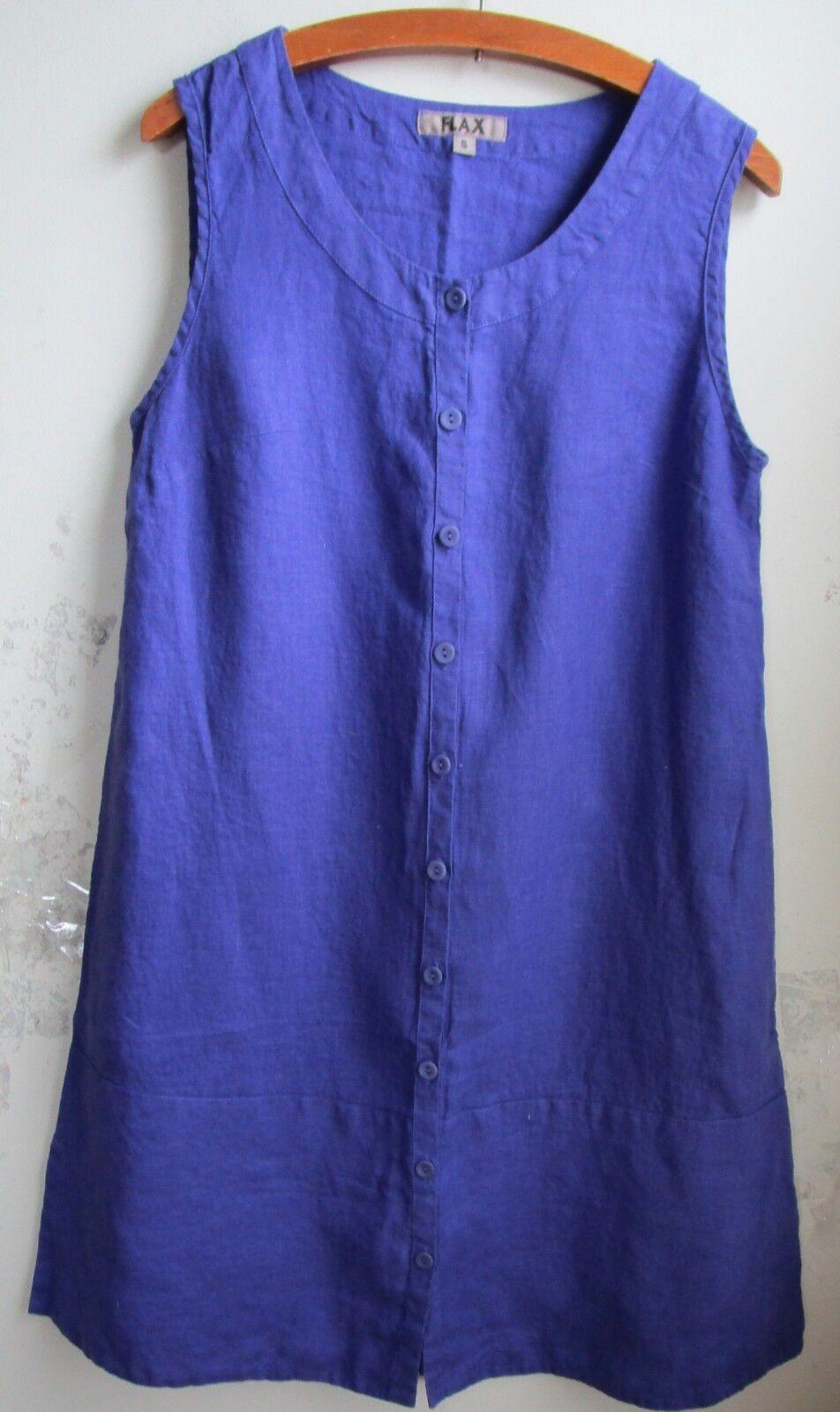 FLAX Designs   LINEN DRESS     1G & 2G & 3G  NWT  Marigold Layer  2018 BOLD purple 4bc4da