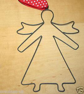 Wire-Christmas-Angel-w-Polka-Dots-Ribbon-NEW