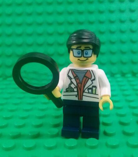 *NEW* Lego Professor Jungle Scientist w Magnifying Glass Minifig Figure Fig x 1
