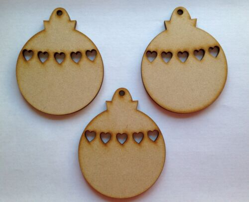 one hole. Christmas Baublesx 5 4mm thick