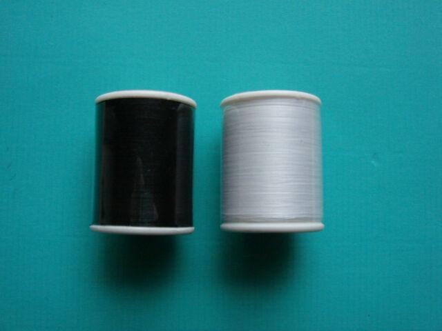 Obergarn aus 100%Baumwolle - je 500m - in weiß oder schwarz -