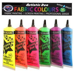 Details about Fluoro Screen Printing Ink 6 x 50ml tubes Permaset Compatible  Neon Screen Paint