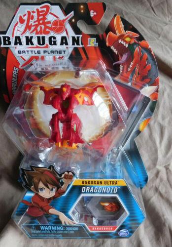 BAKUGAN Battle Brawlers Planet Pyrus DRAGONOID ULTRA 2 Bakucores 1 Card NIP!