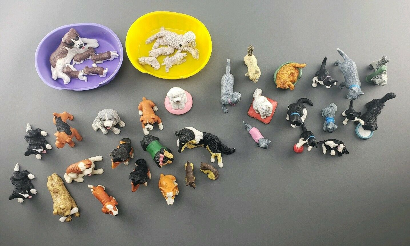 1994 95 M.E.G. MEG Toy Cat Puppy Kitty in My Pocket PVC Figures 39 lot