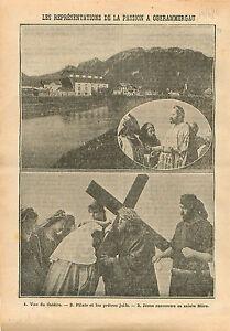 Oberammergau-Herrgottsschnitzer-Passion-Christ-Germany-Theatre-1910-ILLUSTRATION