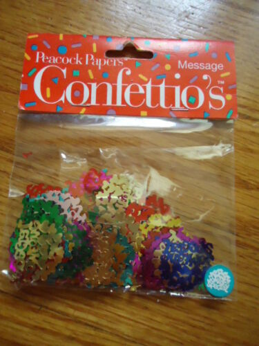 """Details about  /Peacock Paper Message Confettio's """"Someone Special"""" with Hearts In A 1 Inch Circ"""