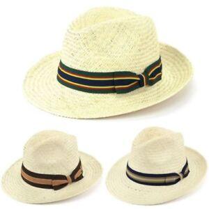 Caricamento dell immagine in corso Cappello-Panama-Paglia -Fedora-Trilby-Sole-Viaggio-Tesa- 50163fb5a65e