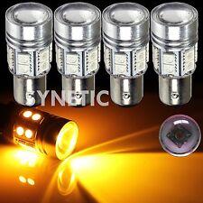 4x 1157 High Power Cree Amber Yellow Brake/Stop/Tail/Turn Signal LED Light Bulbs