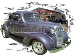 Details about 1938 Gray Chevy Coupe Custom Hot Rod Garage T-Shirt 38 Muscle  Car Tees