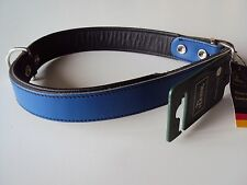 Lederhalsband Hundehalsband blau 60cm von Hunter
