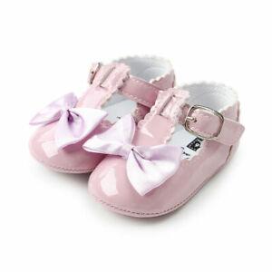 Actif Bébé Filles Rose Patent Bow Front Landau Chaussures 0-6 Mois Et Romany Espagnol-afficher Le Titre D'origine ModèLes à La Mode