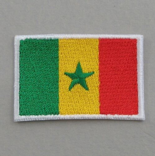 Senegal Flag Small Iron On// Sew On Cloth Patch Badge Appliqué Drapeau Senegalese