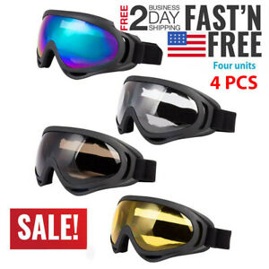 f8eec063655 Image is loading 4Jet-Ski-Goggles-Polarized-4-PACK-Glasses-Motorcycle-