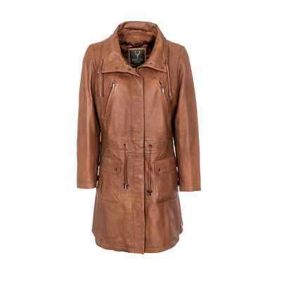 Ladies Leather Parka Coats