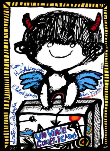 Cuban poster.Devilish ANGEL Traveler.Children Decor.Art