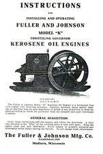 Fuller Amp Johnson Model K Kerosene Oil Engine Instruction Book Motor Throttle