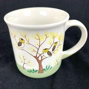 Vintage-Otagiri-Owl-Cup-Family-Entries-Pottery-Mug-Japan