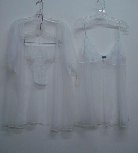 Pajama 3X White #340C USA Made Nancy King Lingerie 2 Piece Baby Doll No Jacket