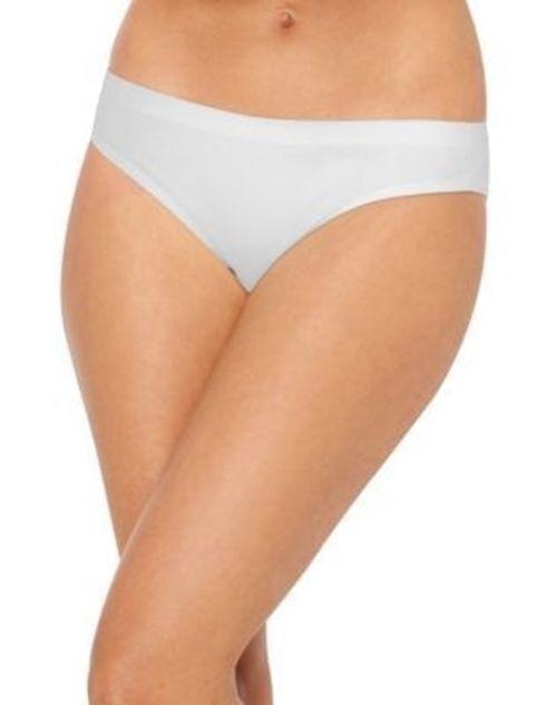6-Pair Hanes Ultimate Smooth Tec Womens Bikini Panties - WHITE