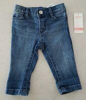Old Navy Infant Baby Girls 0-3 Months Skinny Jeans Medium Blue Wash 21417