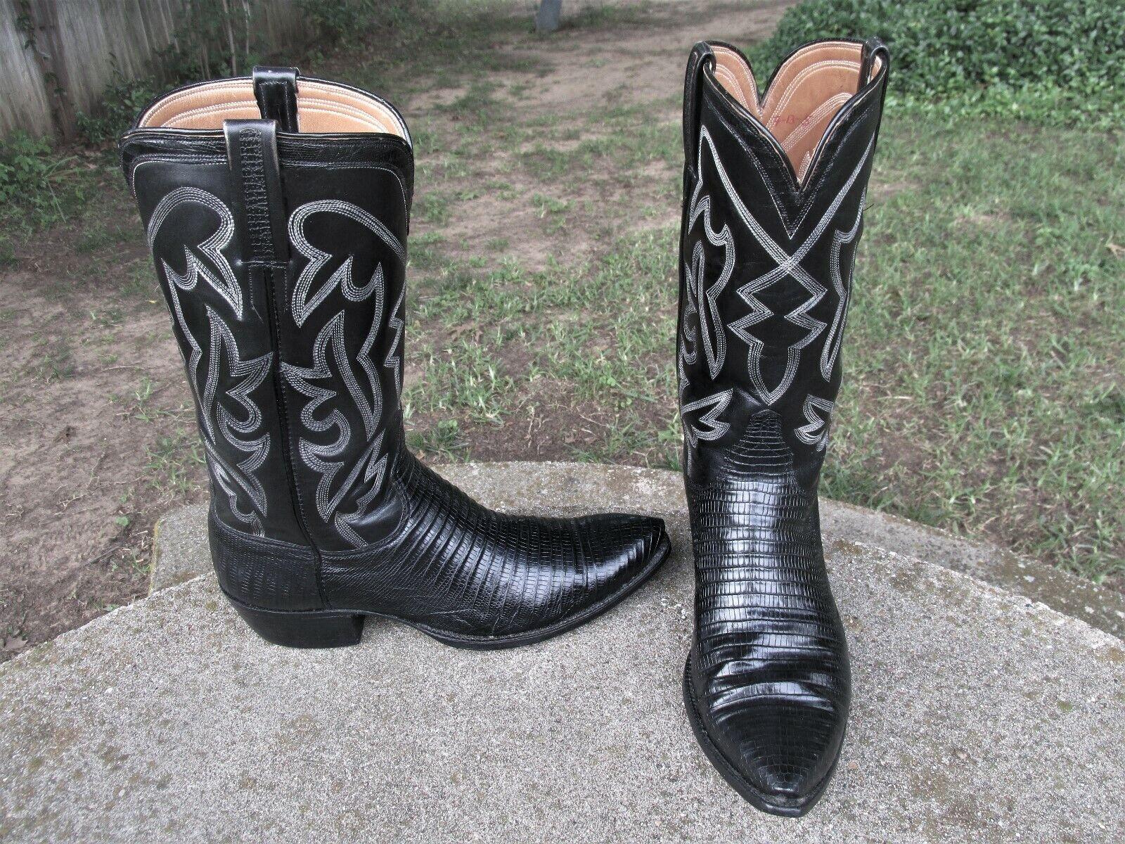 COWBOY    LIZARD   WESTERN  BOOTS  MEN'S  8.5  M