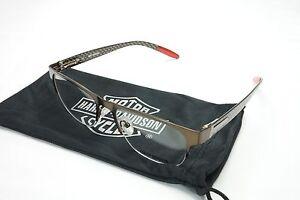14774e22bbe Image is loading Authentic-New-Harley-Davidson-Eyeglasses-Carbon-Fiber-Brown -