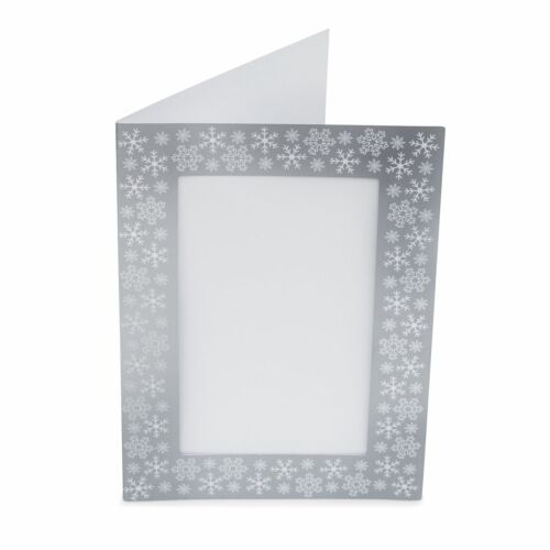 6 Blank Christmas Photo Frame Craft Cards Personalise Your Own 6 x 4 Inch