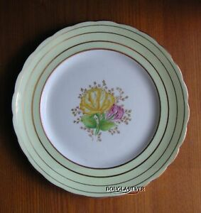 VICTORIA-CARTWRIGHT-amp-EDWARDS-ENGLAND-HAND-PAINTED-PLATE-YELLOW