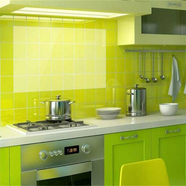 Self-adhesive Anti Oil Stickers Heat-resistant Tile Wall Sticker Transparent