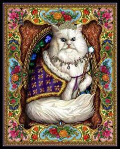 Majestic-Cat-DIY-Chart-Counted-Cross-Stitch-Patterns-Needlework-14-ct