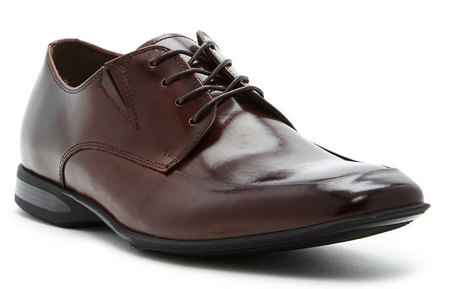 New Kenneth Cole Reaction Sharp Humor Apron Toe Derby Leather Men shoes  Sz 10 B
