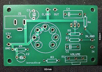 Tube guitar preamplifier PCB, DIY, 12EL6 low voltage 12V tube boost