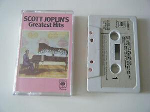 SCOTT-JOPLIN-039-S-GREATEST-HITS-CASSETTE-TAPE-1974-PAPER-LABEL-JOPLIN-CBS-UK