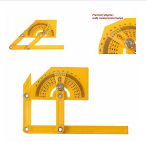 1x Goniometer Angle Finder Miter Gauge Arm Measure Ruler Plastic Protractor New