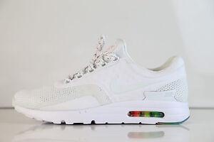 Detalles de Nike Air Max cero Qs ser auténtico blanco puro Platino 789695 101 8 15 1 Premium 90 ver título original