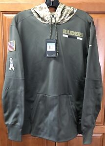 pretty nice 1ecf4 15c9c Details about Nike Oakland Raiders Salute To Service Men's Therma Hoodie  Size M